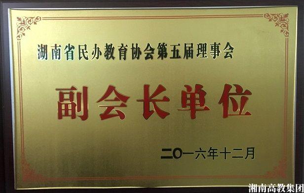 湖南民办教育协会副会长单位
